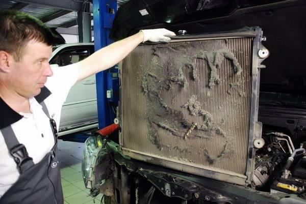Как почистить радиатор охлаждения автомобиля от грязи с фото