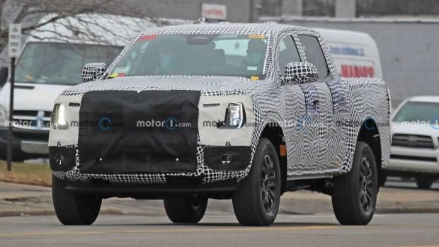 Шпионские фото Ford Ranger следующего поколения