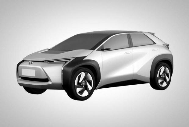 Патентое изображение электрокара Toyota