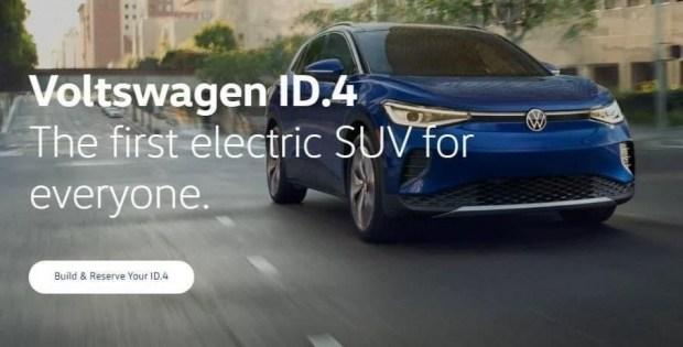 Рекламный баннер, размещенный на американском сайте Volkswagen of America